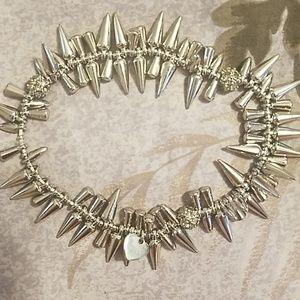 Stella & Dot silver spike bracelet